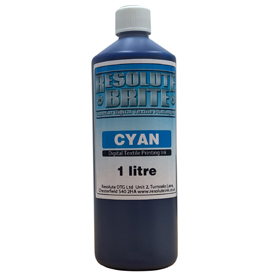 1 Litre Resolute Brite Cyan Inkjet Garment Printer DTG Ink