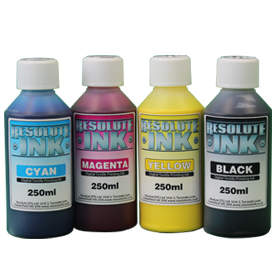 Resolute CMYK 1 x 250ml ink set